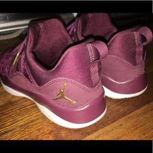 e0fc3e9cfba Women Red Velvet Shoes Jordans on Poshmark
